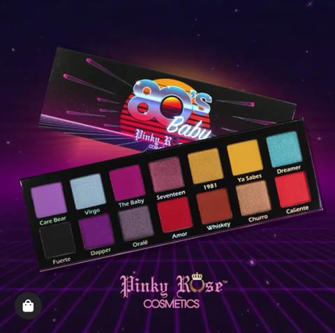 Image of   Pinky Rose Cosmetics 80S BABY EYE SHADOW PALETTE