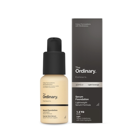 Image of   The Ordinary Serum Foundation 1.2 YG light Yellow Gold