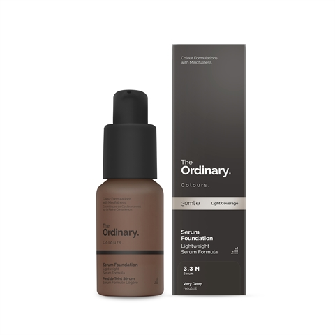 Image of   The Ordinary Serum Foundation 3.3 N very deep Neutral