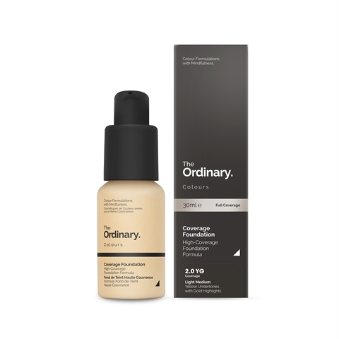 Image of   The Ordinary Coverage Foundation 2.0 YG light medium Yellow Gold