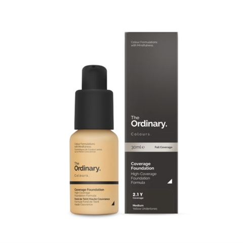 Image of   The Ordinary Coverage Foundation 2.1 Y medium Yellow
