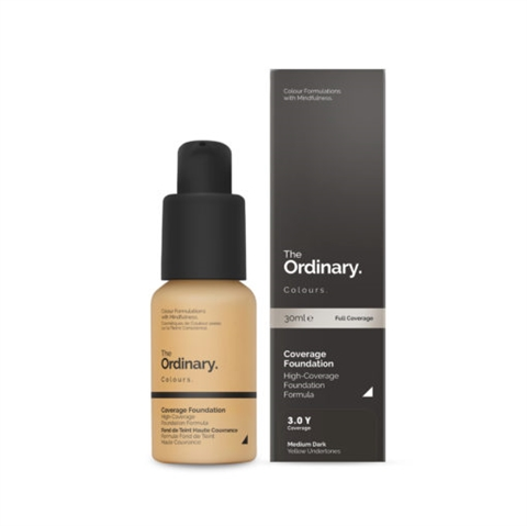 Image of   The Ordinary Coverage Foundation 3.0 Y medium dark Yellow