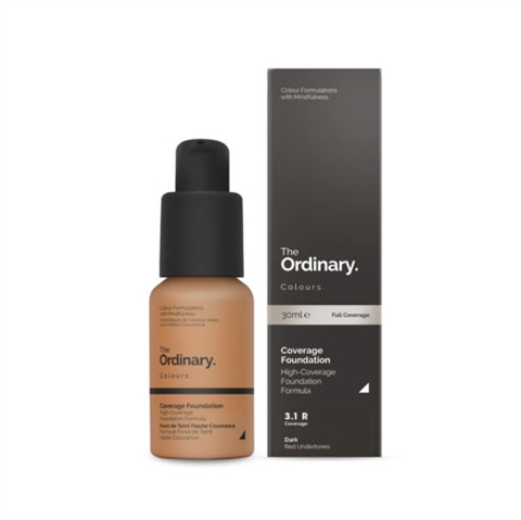 Image of   The Ordinary Coverage Foundation 3.1 R dark Red