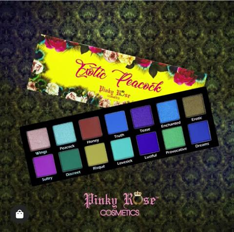Image of   Pinky Rose Cosmetics EXOTIC PEACOCK EYE SHADOW PALETTE