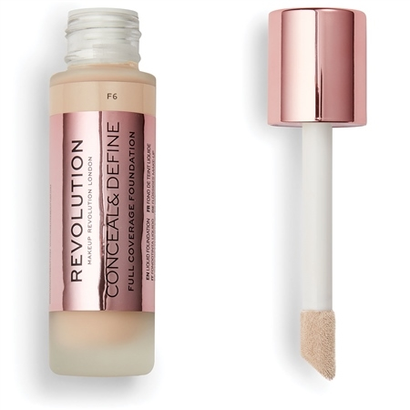 Image of   Makeup Revolution Conceal & Define Foundation F6