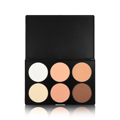 Image of   OPV Beauty - 6 Colour Contour Palette - Powder Base