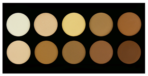 Crown Pro 10 Colour Pressed Powder Contour Palette
